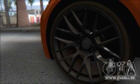 BMW M3 E92 Soft Tuning für GTA San Andreas Rückansicht