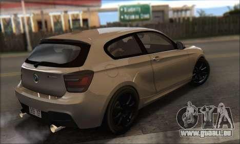 BMW M135i pour GTA San Andreas laissé vue