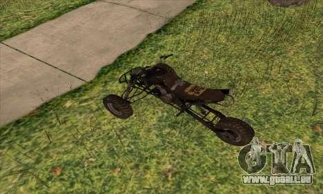 Trike from Ravaged pour GTA San Andreas sur la vue arrière gauche