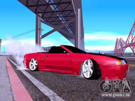 Elegy Cabrio HD pour GTA San Andreas sur la vue arrière gauche
