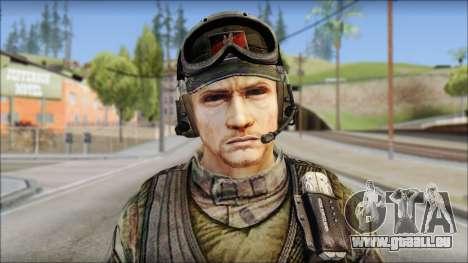 Nima GROM from Soldier Front 2 pour GTA San Andreas troisième écran