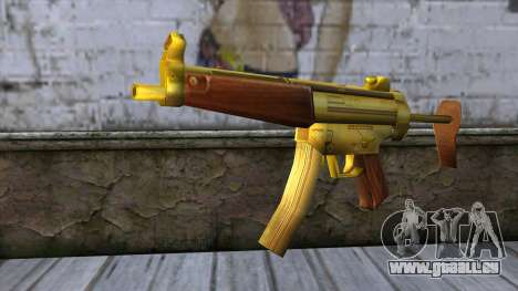 MP5 Gold from CSO NST pour GTA San Andreas
