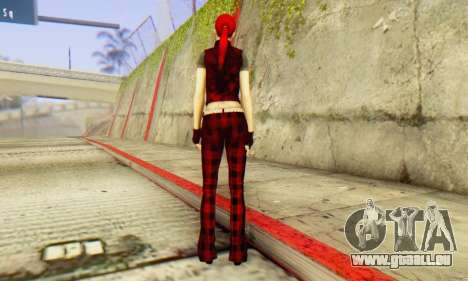 Red Girl Skin für GTA San Andreas dritten Screenshot