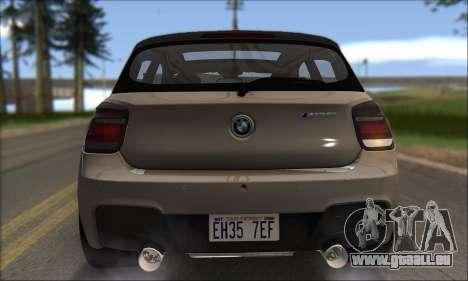 BMW M135i pour GTA San Andreas vue de dessus