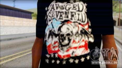 A7X Stars And Stripes T-Shirt pour GTA San Andreas troisième écran