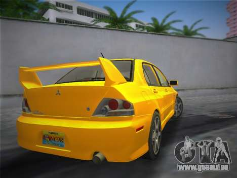 Mitsubishi Lancer Evolution 8 2004 für GTA Vice City linke Ansicht