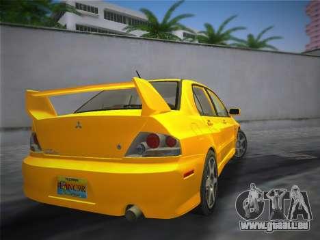 Mitsubishi Lancer Evolution 8 2004 pour une vue GTA Vice City de la gauche