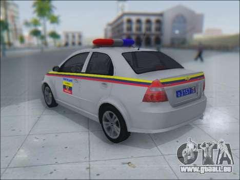 Chevrolet Aveo Милиция OHP pour GTA San Andreas vue intérieure