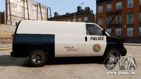 Vapid Speedo Los Santos Police [ELS] für GTA 4 linke Ansicht