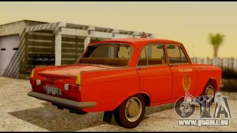 Moskvich U pour GTA San Andreas vue arrière