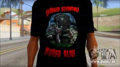 A7X Buried Alive Fan T-Shirt v1 pour GTA San Andreas troisième écran