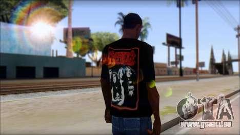 Kreator Shirt für GTA San Andreas zweiten Screenshot