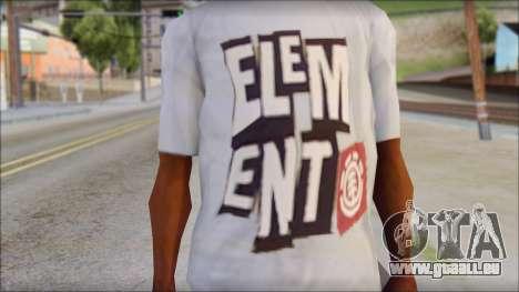 Element T-Shirt für GTA San Andreas dritten Screenshot