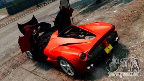 Ferrari LaFerrari für GTA 4 Innenansicht