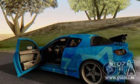 Mazda RX-8 VeilSide Blue Star pour GTA San Andreas vue de dessous