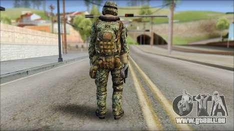 Forest UDT-SEAL ROK MC from Soldier Front 2 pour GTA San Andreas deuxième écran