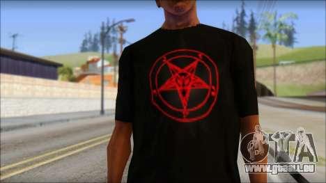 Red Pentagram Shirt pour GTA San Andreas troisième écran