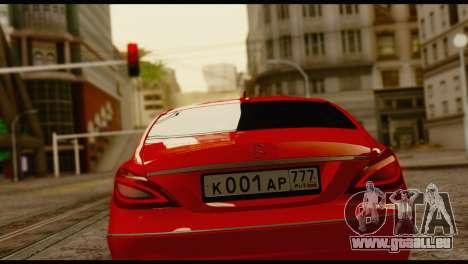 Mercedes-Benz CLS 63 pour GTA San Andreas laissé vue