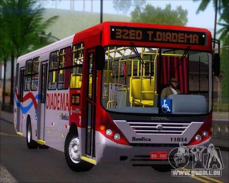 Comil Svelto 2008 Volksbus 17-2 Benfica Diadema für GTA San Andreas linke Ansicht