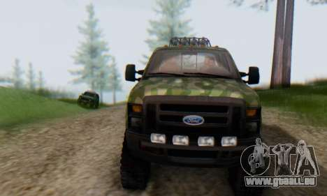 Ford F-250 Camo Lifted 2010 für GTA San Andreas obere Ansicht