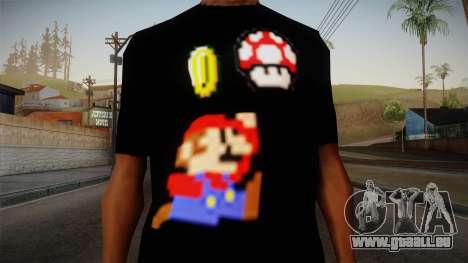 Mario Bros T-Shirt pour GTA San Andreas troisième écran