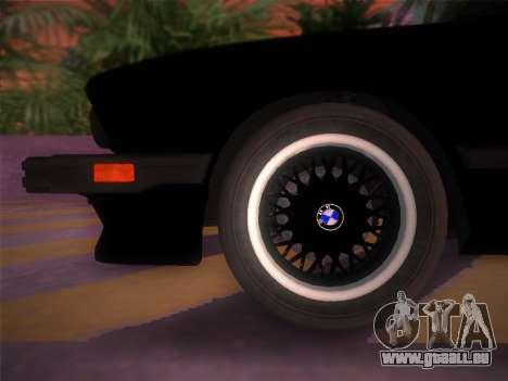 BMW 535i US-spec e28 1985 pour une vue GTA Vice City de la droite