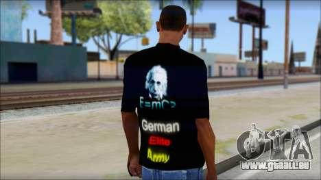 German Elite Army Emcore Fan T-Shirt pour GTA San Andreas deuxième écran