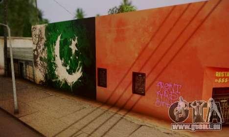 Pakistani Flag Graffiti Wall pour GTA San Andreas deuxième écran