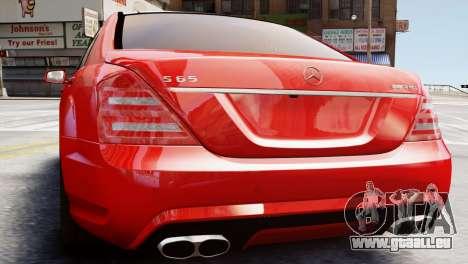 Mercedes-Benz S65 W221 AMG v1.3 für GTA 4 hinten links Ansicht