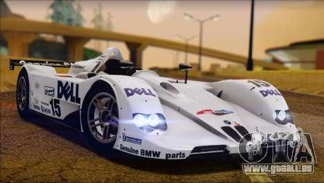 BMW 14 LMR 1999 für GTA San Andreas zurück linke Ansicht