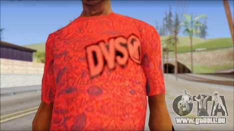 DVS T-Shirt pour GTA San Andreas troisième écran