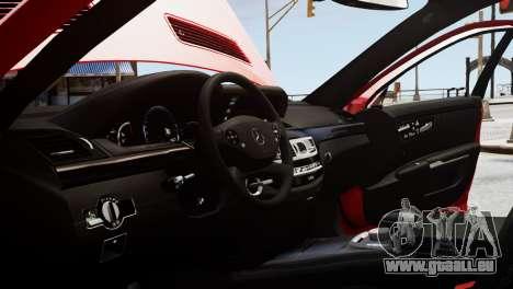 Mercedes-Benz S65 W221 AMG v1.3 pour GTA 4 vue de dessus