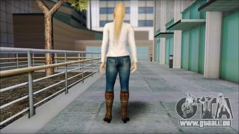 Sarah from Dead or Alive 5 v1 pour GTA San Andreas deuxième écran