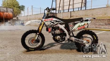 Yamaha YZF-450 v1.5 pour GTA 4 est une gauche