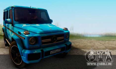 Mercedes-Benz G65 Blue Star für GTA San Andreas linke Ansicht