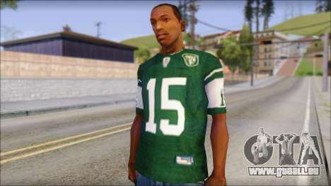 New York Jets 15 Tebow Green T-Shirt für GTA San Andreas