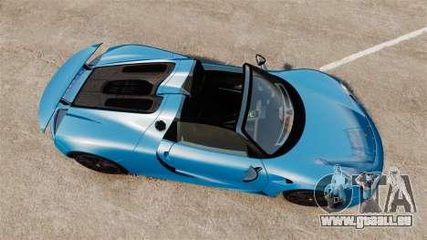 Porsche 918 2013 pour GTA 4 est un droit