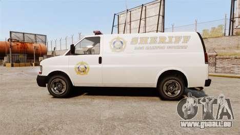 Vapid Speedo Los Santos County Sheriff [ELS] für GTA 4 linke Ansicht