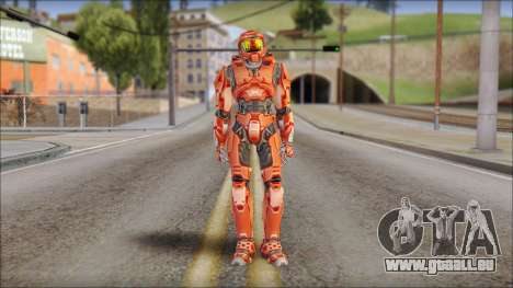 Masterchief Red from Halo pour GTA San Andreas