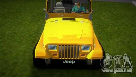 Jeep Wrangler 1986 v4.0 Fury für GTA Vice City rechten Ansicht