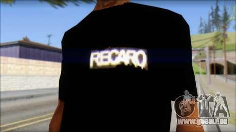 Recaro T-Shirt pour GTA San Andreas troisième écran