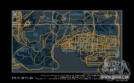 Carte de course style de Trace de la Carte pour GTA San Andreas deuxième écran