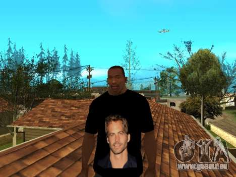 T-Shirt Paul Walker für GTA San Andreas zweiten Screenshot