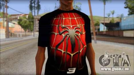 Spiderman 3 T-Shirt pour GTA San Andreas troisième écran