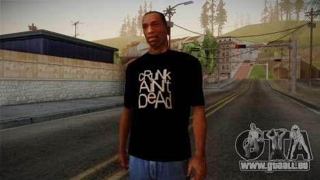 Crunk Aint Dead Shirt Black für GTA San Andreas