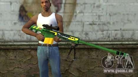 M82A3 Brazil Camo pour GTA San Andreas troisième écran