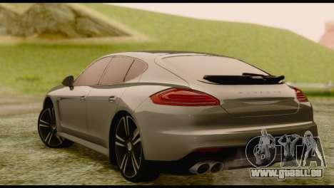 Porsche Panamera GTS pour GTA San Andreas laissé vue