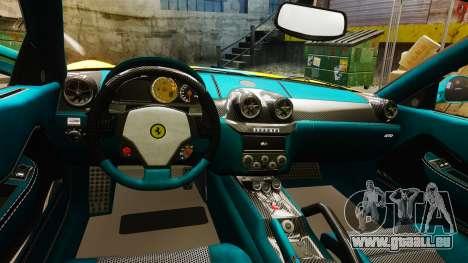 Ferrari 599 GTO PJ2 pour GTA 4 est une vue de l'intérieur