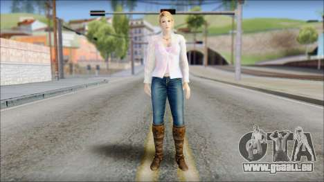 Sarah from Dead or Alive 5 v4 für GTA San Andreas
