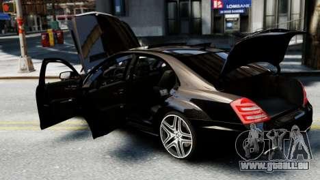 Mercedes-Benz S65 W221 AMG v1.3 für GTA 4 Innenansicht